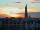 Brussels at sunset.