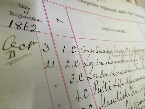 The UK's Companies Registry has come a long, long way since 1862...