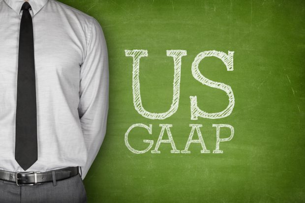 Business Acronym GAAP - Generally Accepted Accounting Principles on blackboard