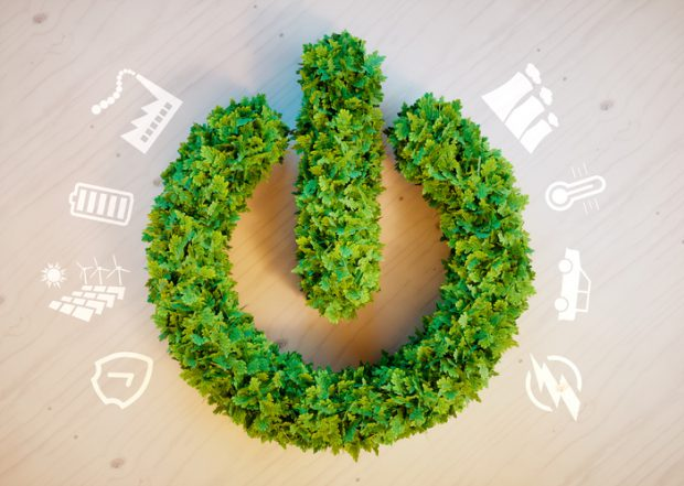 Clean green eco energy concept