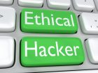 "3D illustration of computer keyboard with the print ""Ethical Hacker"" on two adjacent green buttons"