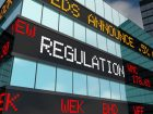 Regulation Stock Market Oversight Rules Laws Trading Ticker 3d Illustration