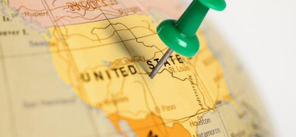 Location United States. Green pin on the map.